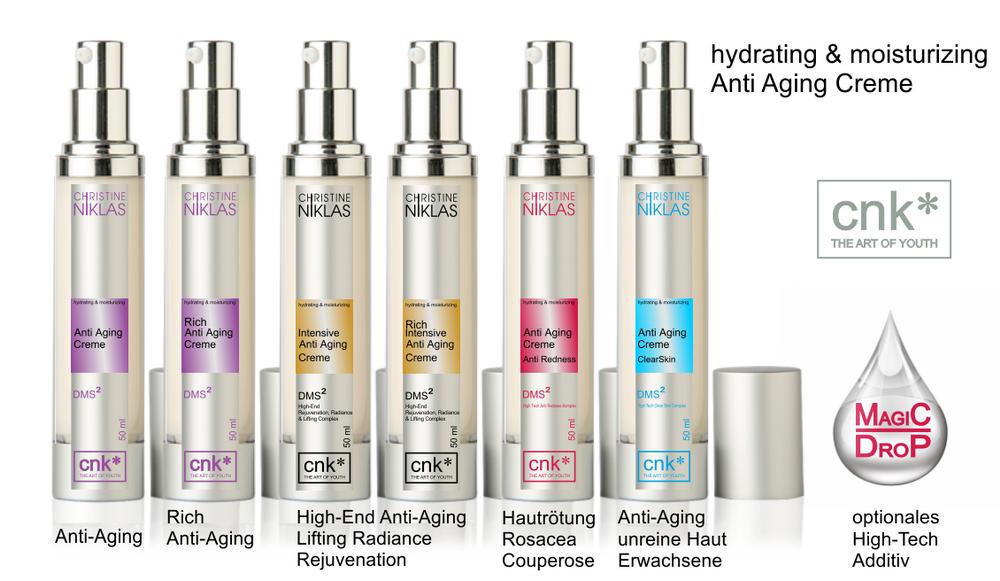 hydrating & moisturizing Anti Aging Cremes_Übersicht